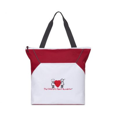 Red/White Everett Convention Tote Bag