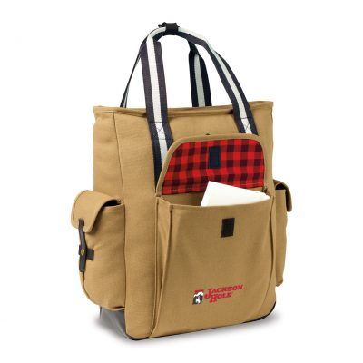 Heritage Supply Ridge Cotton Convertible Tote Brown-Yellow
