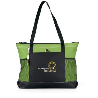 Select Zippered Tote - Apple Green