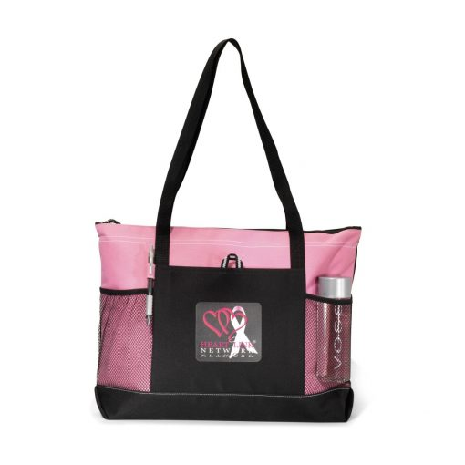 Select Zippered Tote - Peony Pink