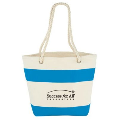 Capri Stripes 12oz Cotton Canvas Shopper Tote