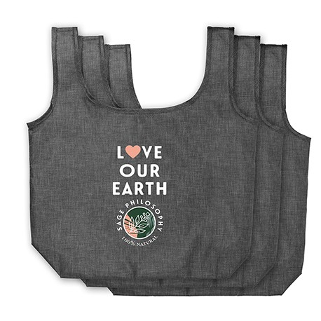 Ash Recycled PET 3-Pack Shopper Totes