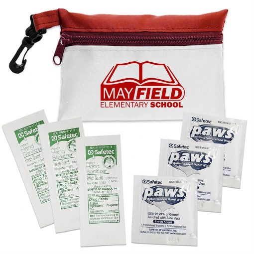 Zipper Tote Antimicrobial and Sanitizer Kit